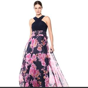 Eliza J floral garden wedding maxi dress gown